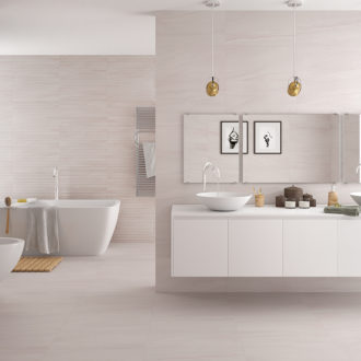Pamesa Ceramica Reval Perla Plain Glazed Porcelain Wall and Floor Tile (613x303mm)