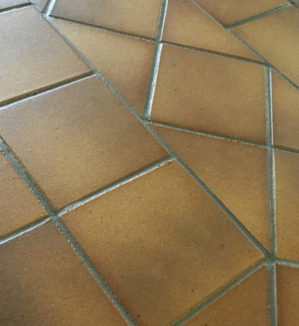 Gres De Aragon Flame Brown RE Round Edge Quarry Tiles 149x149x12mm