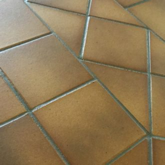 Gres De Aragon Flame Brown Quarry Tiles 149x149x12mm