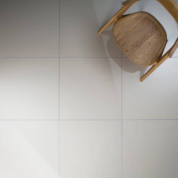 Johnson Parade Polished White Porcelain Floor Tiles 600x600x8mm