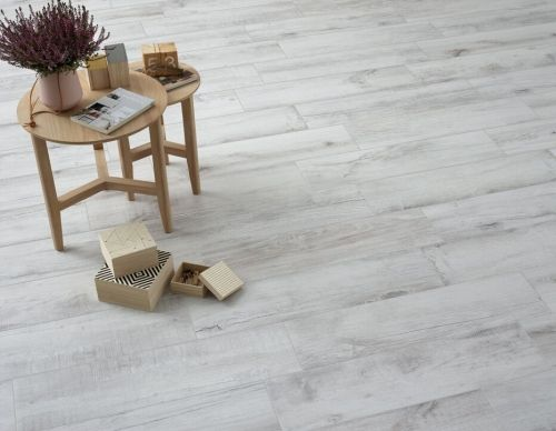 Colorker – Norden White Wood Series Porcelain Tiles 840 x 220