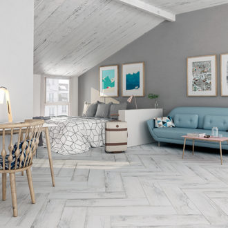 Colorker – Norden White Wood Series Porcelain Tiles 840 x 220
