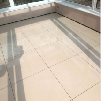 Overland Parchment High Gloss Rectified Porcelain Floor Tiles 600x600x8mm