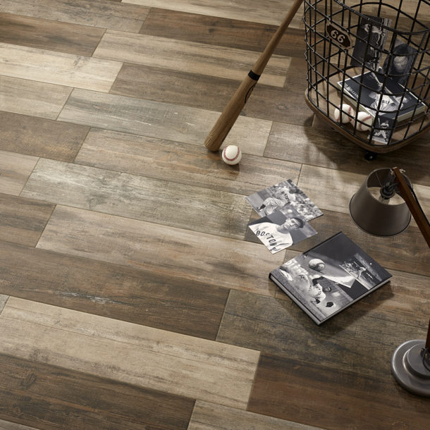 Woodland Series Oak Wood Effect Porcelain Floor Tiles 218x840mm – 00673