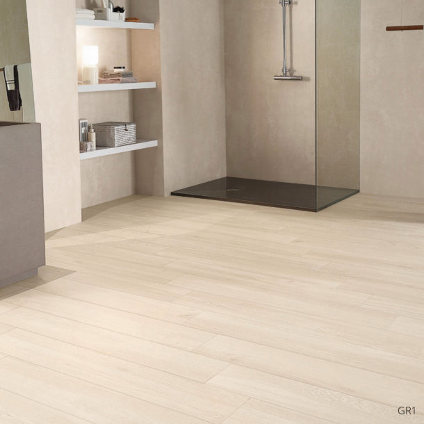 Grove Series Wood Effect White Porcelain Floor Tiles 1200x200mm