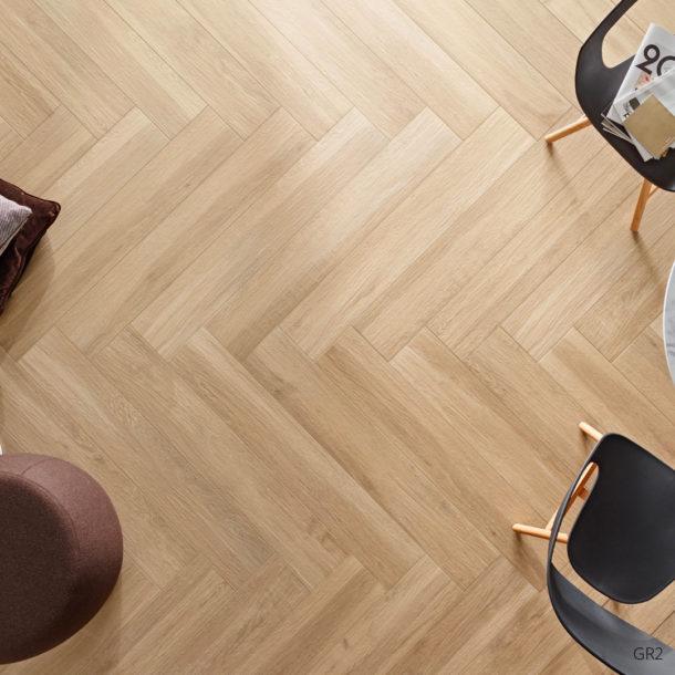 Grove Series Wood Effect Beige Porcelain Floor Tiles 1200x200mm