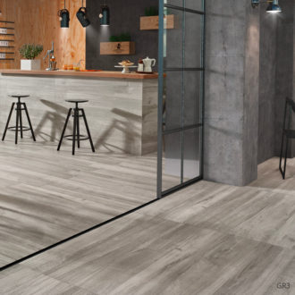 Grove Series Wood Effect Grey Porcelain Floor Tiles 1200x200mm
