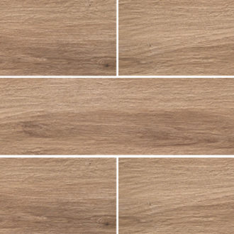 Grove Series Wood Effect Light Brown Porcelain Floor Tiles 1200x200mm