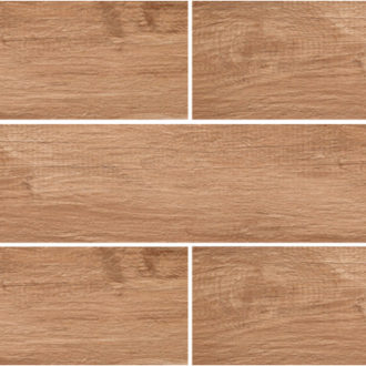 Grove Series Wood Effect Brown Oak Porcelain Floor Tiles 1200x200mm
