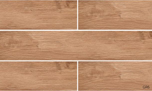 Grove Series Wood Effect Brown Oak Porcelain Floor Tiles 1200x200mm