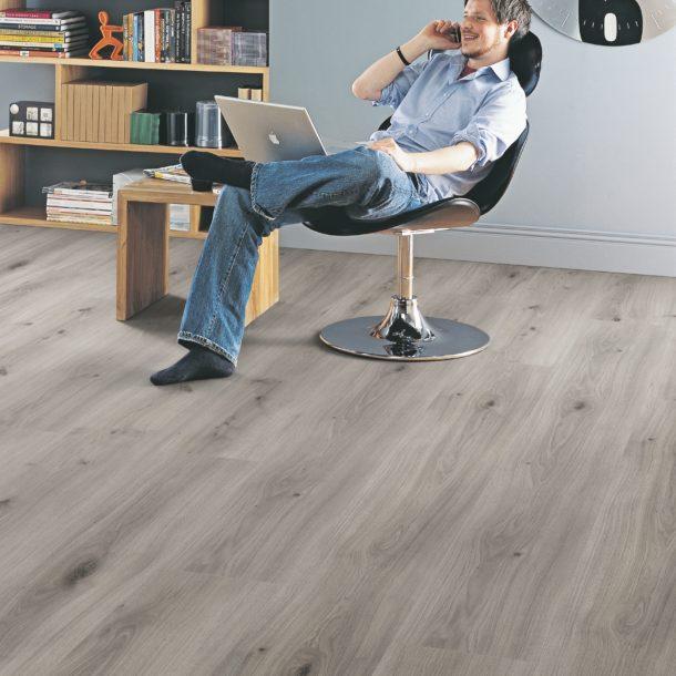 Elka Dove Oak  8mm V4 Long  Plank ELW121 Laminate Flooring