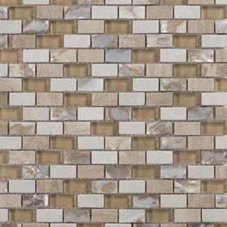 Arena Brick Mosaic Stone Wall Tiles 305 x 305 x 8