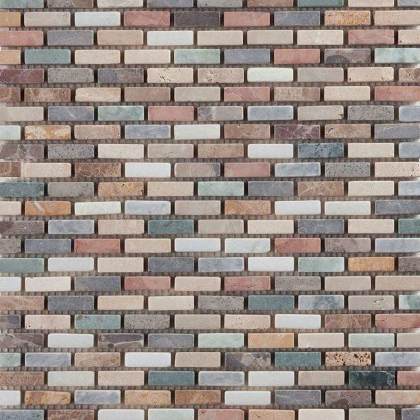 Harlequin Brick Mosaic Floor and Wall Tiles 305 x 305 x 10