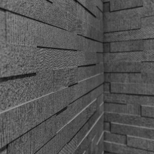 Cityscape Anthracite Brick Mosaic Wall Tiles 300x600x10.3