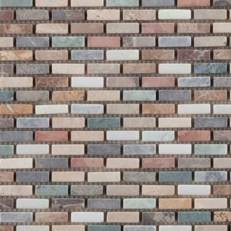 Harlequin Brick Mosaic Floor and Wall Tiles 305 x 305 x 10