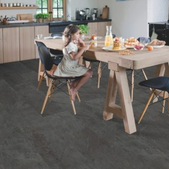 Black Slate – Ambient Click Luxury Vinyl 1300x 320 mm Tiles – AMCL40035