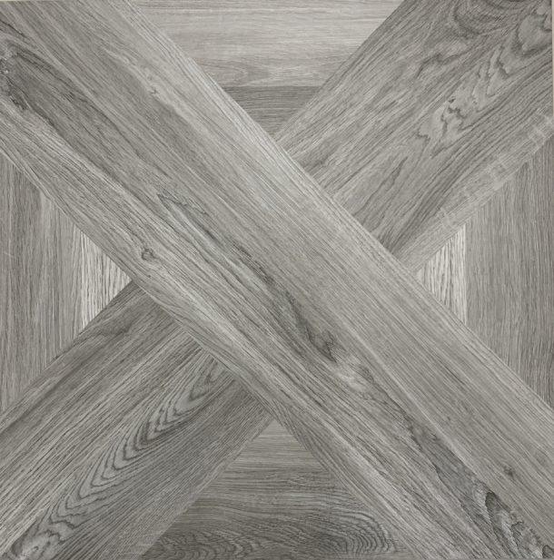 French Parquet Intarsio Grisio 610 x 610 mm Porcelain Floor Tile