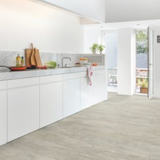 Light Grey Travertin – Ambient Click luxury vinyl 1300 x 320 x 4.5 mm Tiles AMCL40047