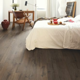 Pet friendly dark brown wood effect flooring