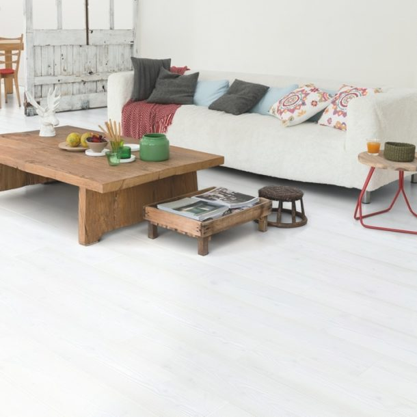 Quick-Step White Planks Impressive Ultra Laminate – IMU1859