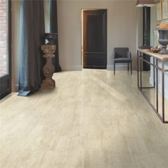 Cream Travertin – Ambient Click luxury vinyl 1300 x 320 x 4.5 mm Tiles AMCL40046
