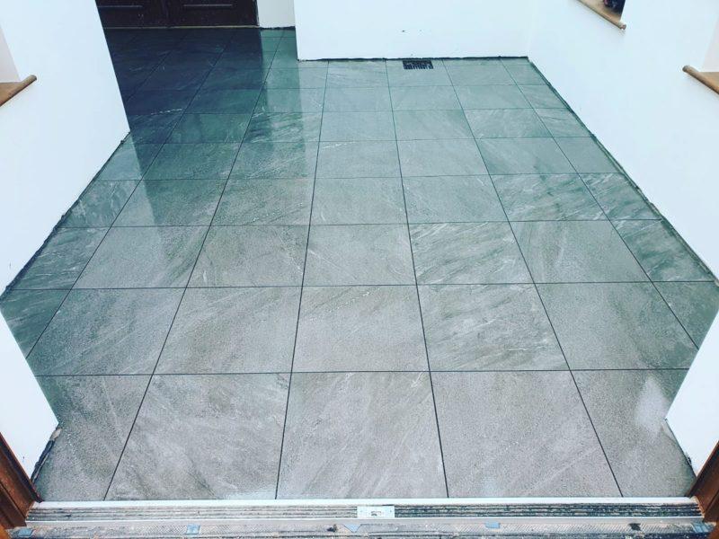 commercial tiled flooring