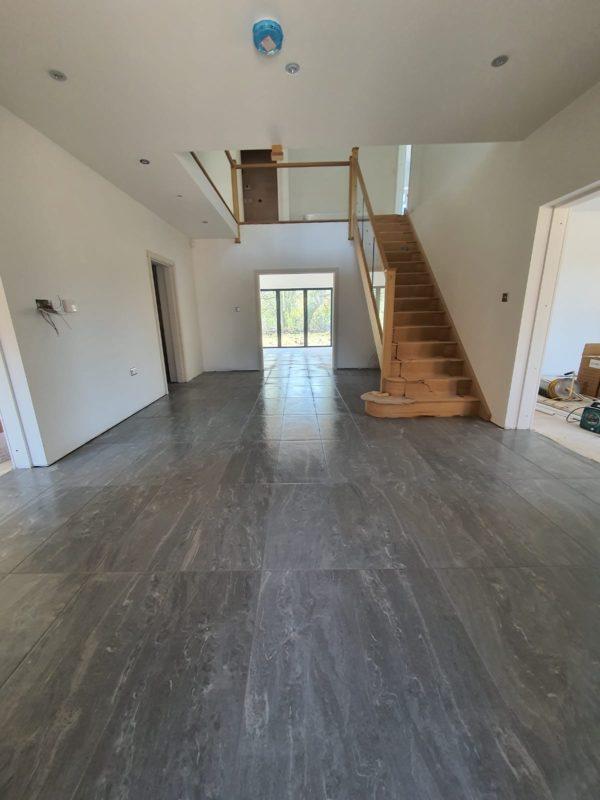 floor tiles in newbuild property