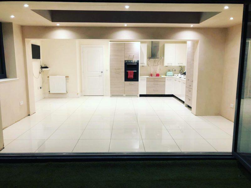gloss kitchen floor tiles