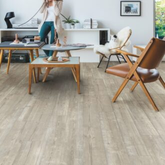 Quick-Step Alpha Morning Mist Pine Rigid Vinyl Medium Planks