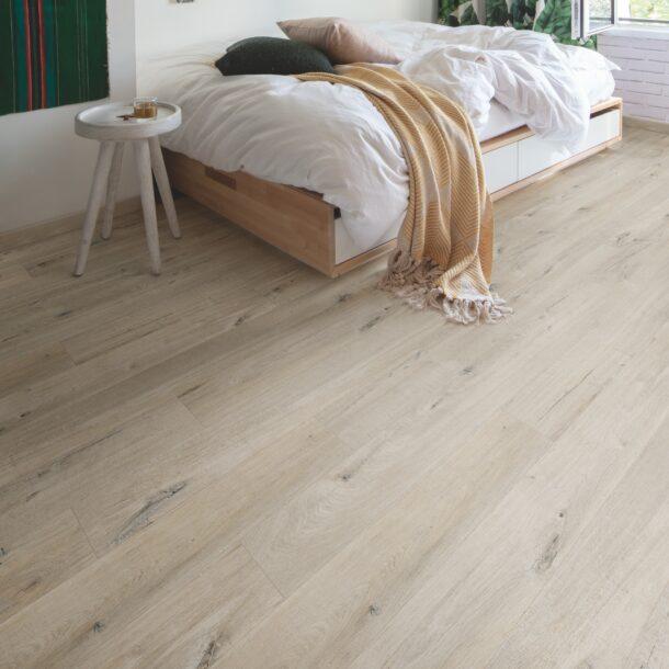 Quick-Step Alpha Cotton Oak White Blush AVMP40200 Rigid Vinyl Medium Planks
