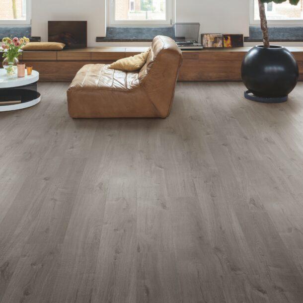Quick-Step Alpha Cotton Oak Cozy Grey AVMP40202 Rigid Vinyl Medium Planks