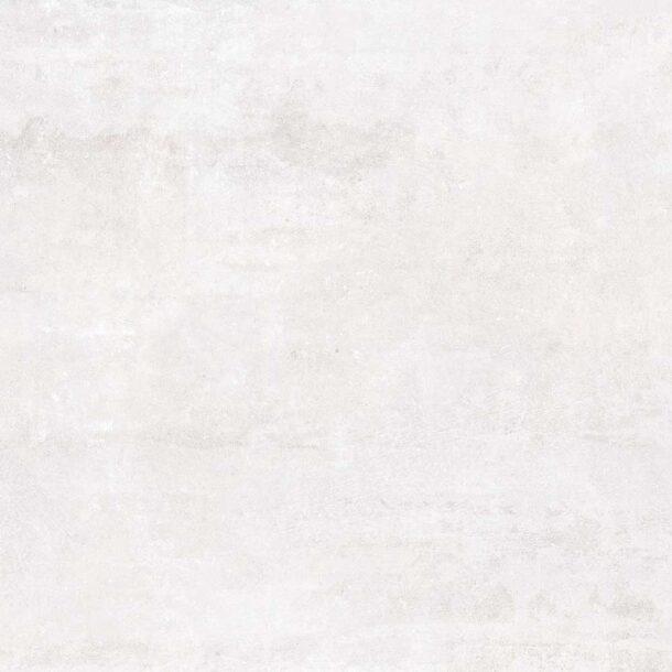 Tempo Matt White Stone Effect Porcelain Tiles 600 x 600 x 10 mm