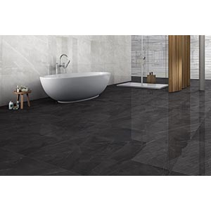 Armani Nero Polished Porcelain Floor Tiles 600mm x 600mm
