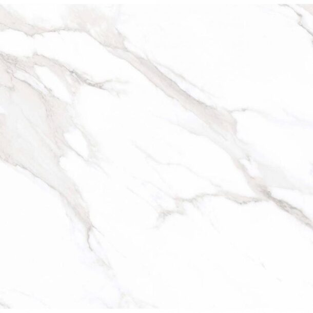 Carrara Mercury Matt White Marble Effect Porcelain Tiles 600 x 600 mm