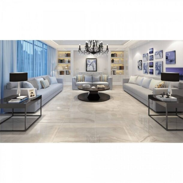 Onyx Grey Polished Porcelain Tiles 600 x 600 mm
