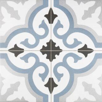 Lancaster 45 x 45 Blue Matt Porcelain Floor Tiles